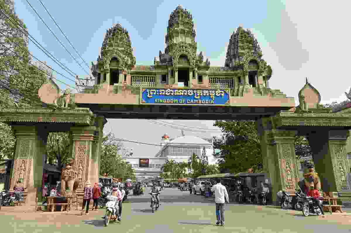 The border crossing from Cambodia to Thailand, in Poipet, Cambodia (Dreamstime)