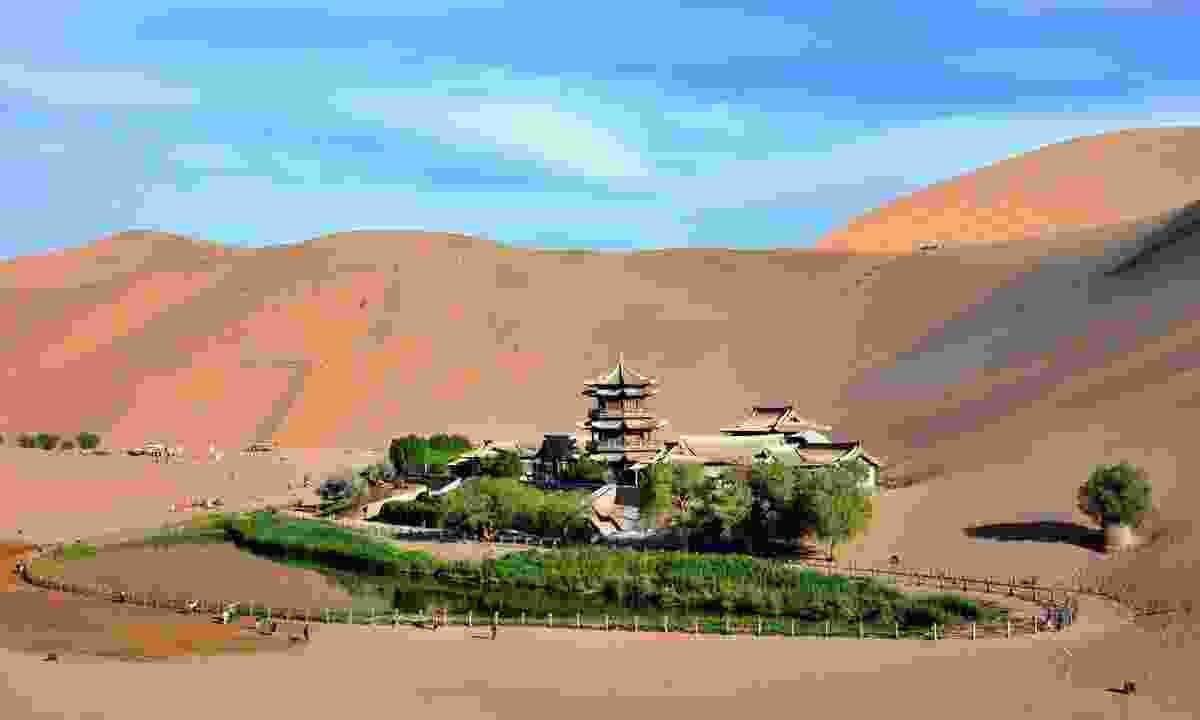 Crescent Lake near Dunhuang city, Gansu province (Shutterstock)