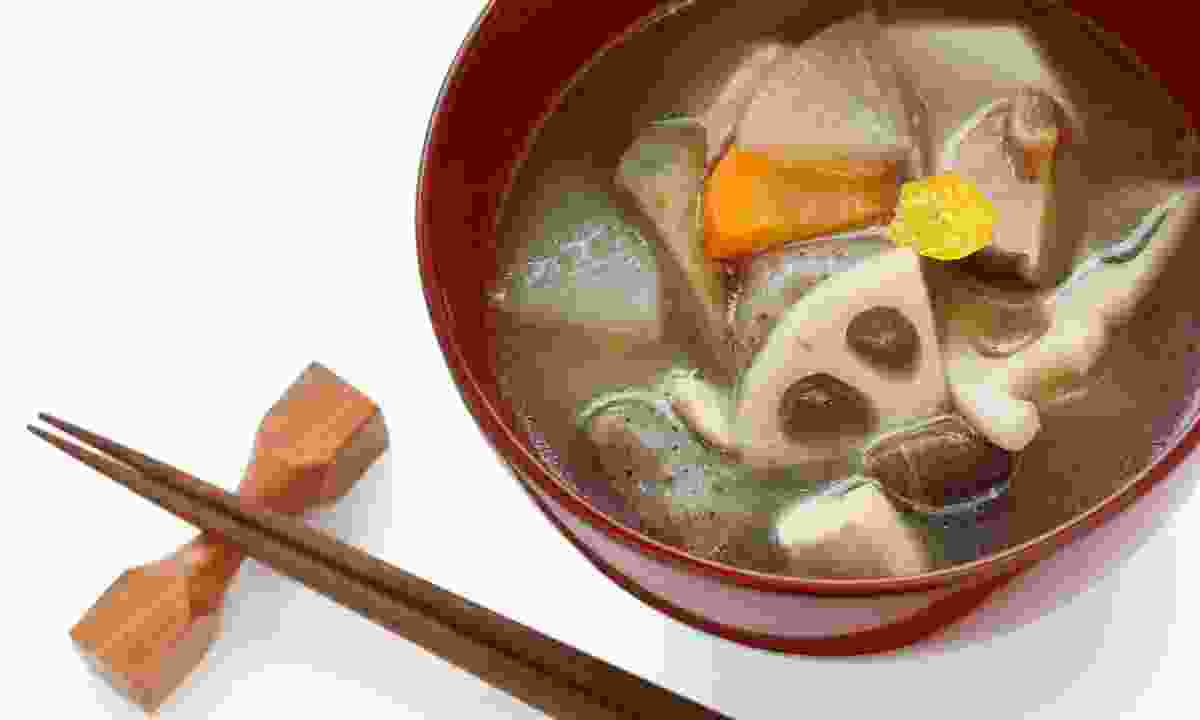 Kenchinjiru, a vegetable soup (Dreamstime)