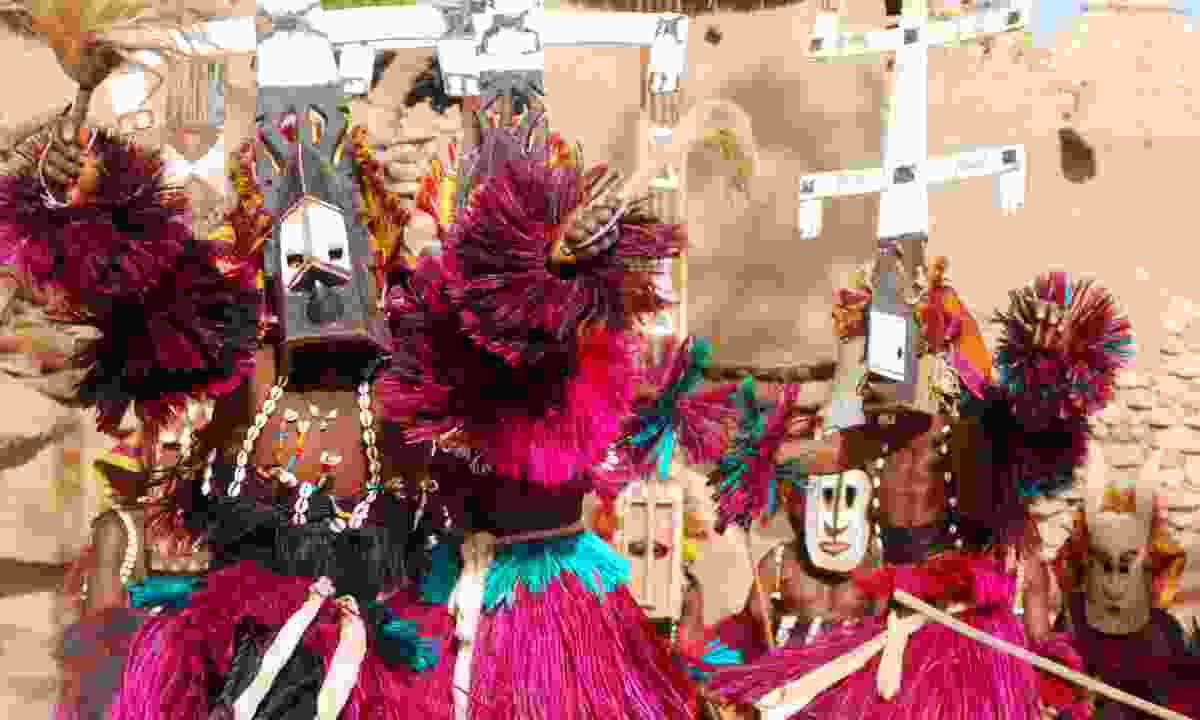 A typical Dogon mask (Dreamstime)