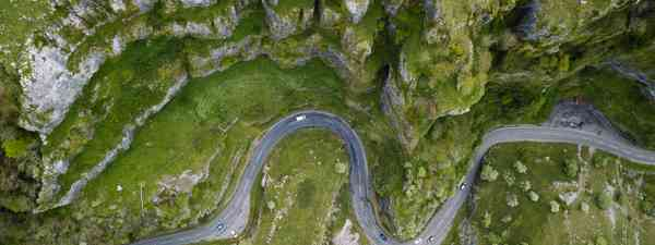 A view of Cheddar Gorge from the air (Shutterstock)