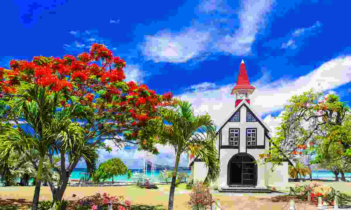 Church on a beach in Mauritius (Shutterstock)