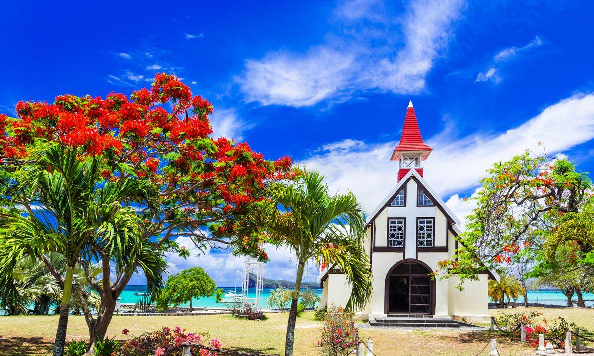 Church on a beach in Mauritius (Shutterstock)