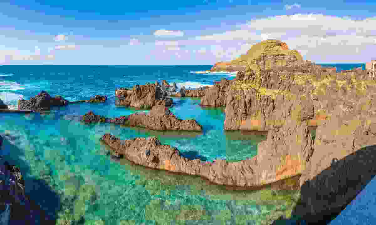 The natural rock pools of Porto Moniz, Madeira (Dreamstime)