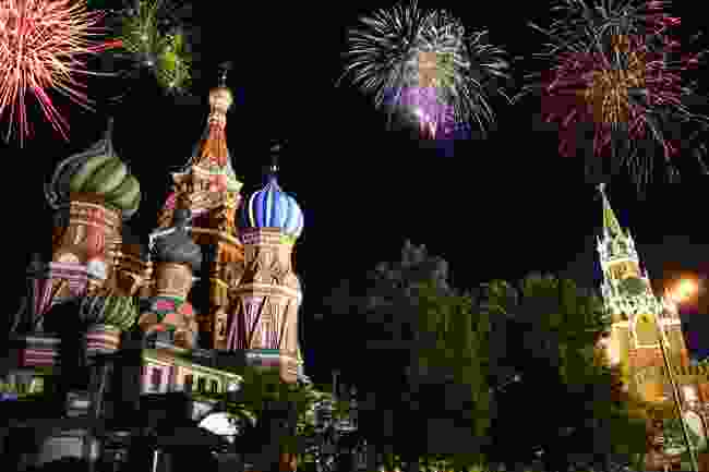 Fireworks in Moscow, Russia (Shutterstock)