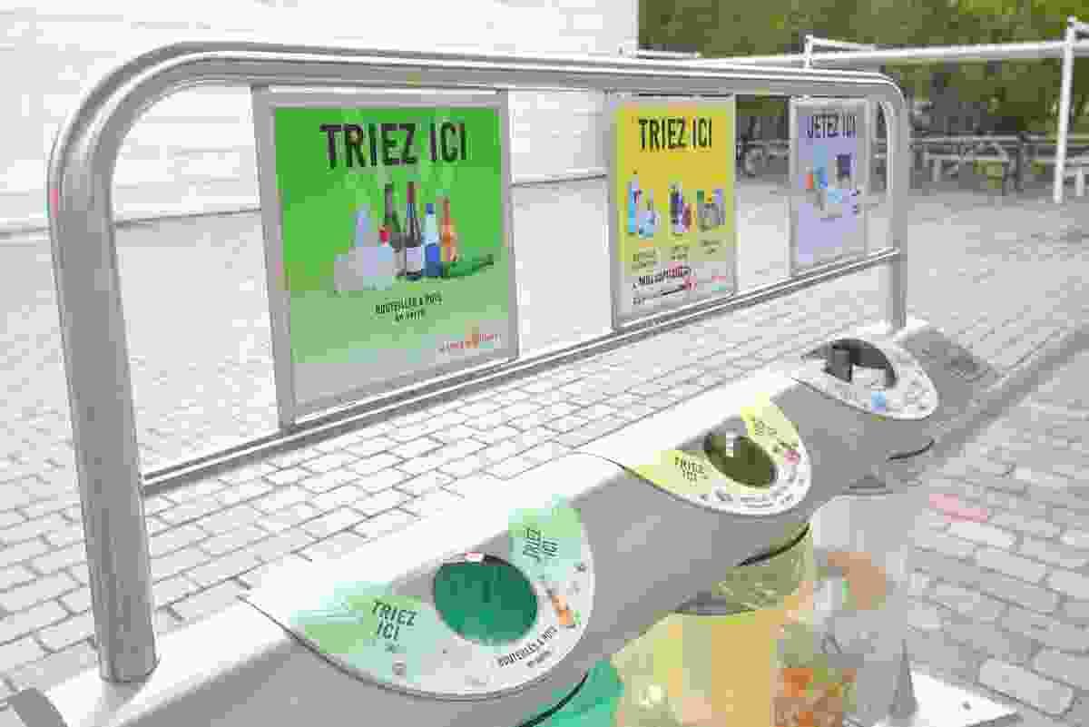 French recycling bins, soon to be mandatory (Shutterstock)