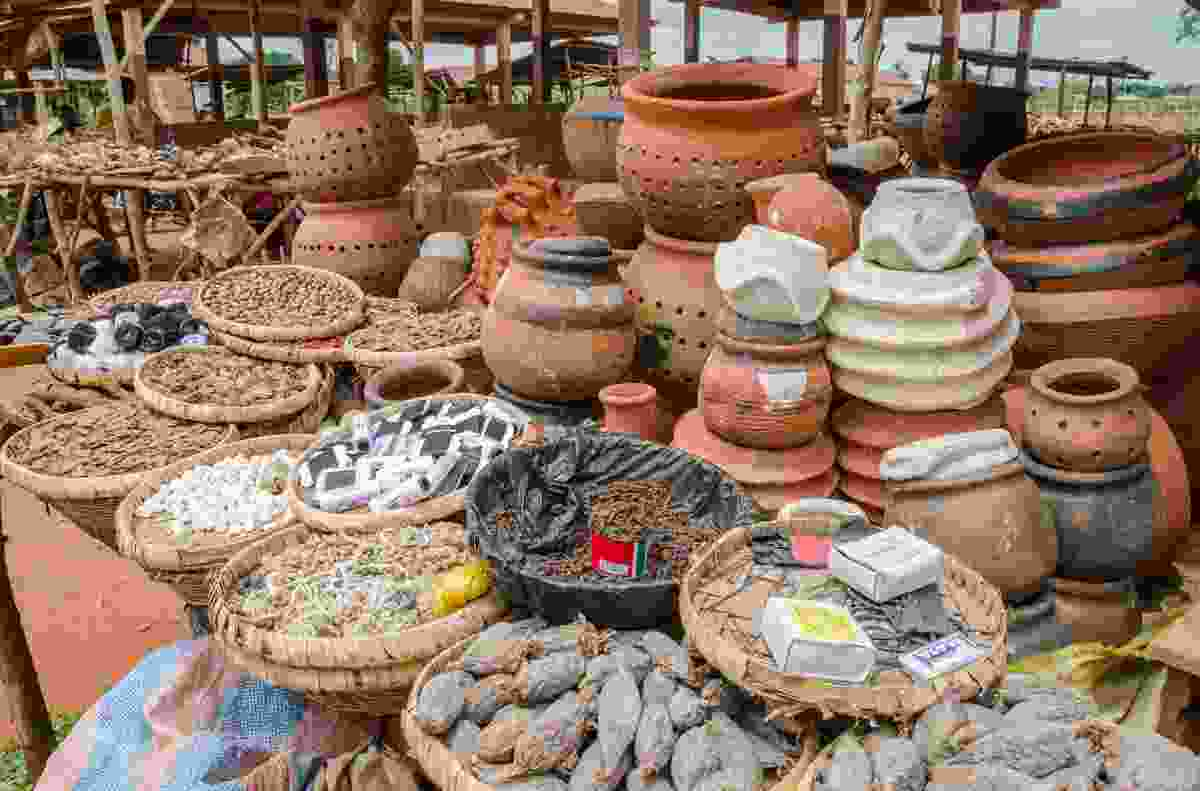 More goods on sale at a Voodoo Fetish Market (Shutterstock)