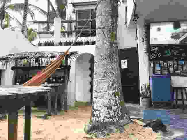 Ian's host family's home on Isabela Island (Ian Melvin)