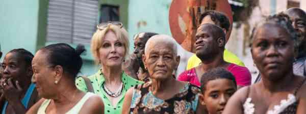 Joanna Lumley filming her Havana To Haiti series for ITV (ITV)