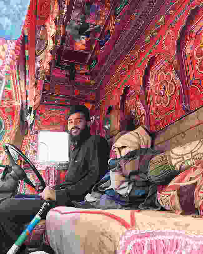 Inside a Bedford truck (Emma Thomson)