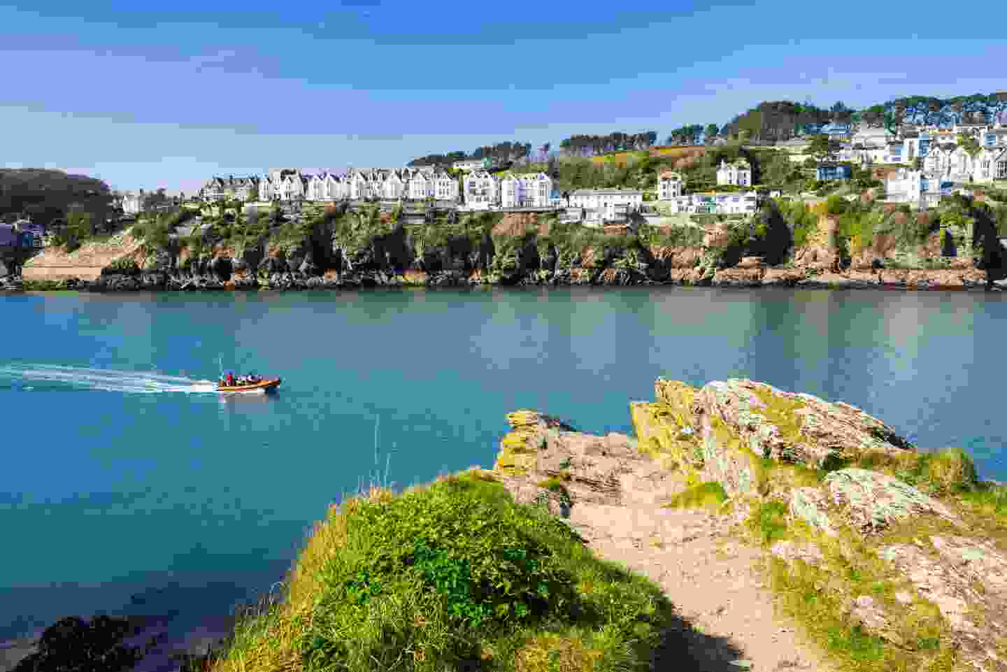 Views across the river to Fowey from Polruan Block House, Cornwall (Shutterstock)