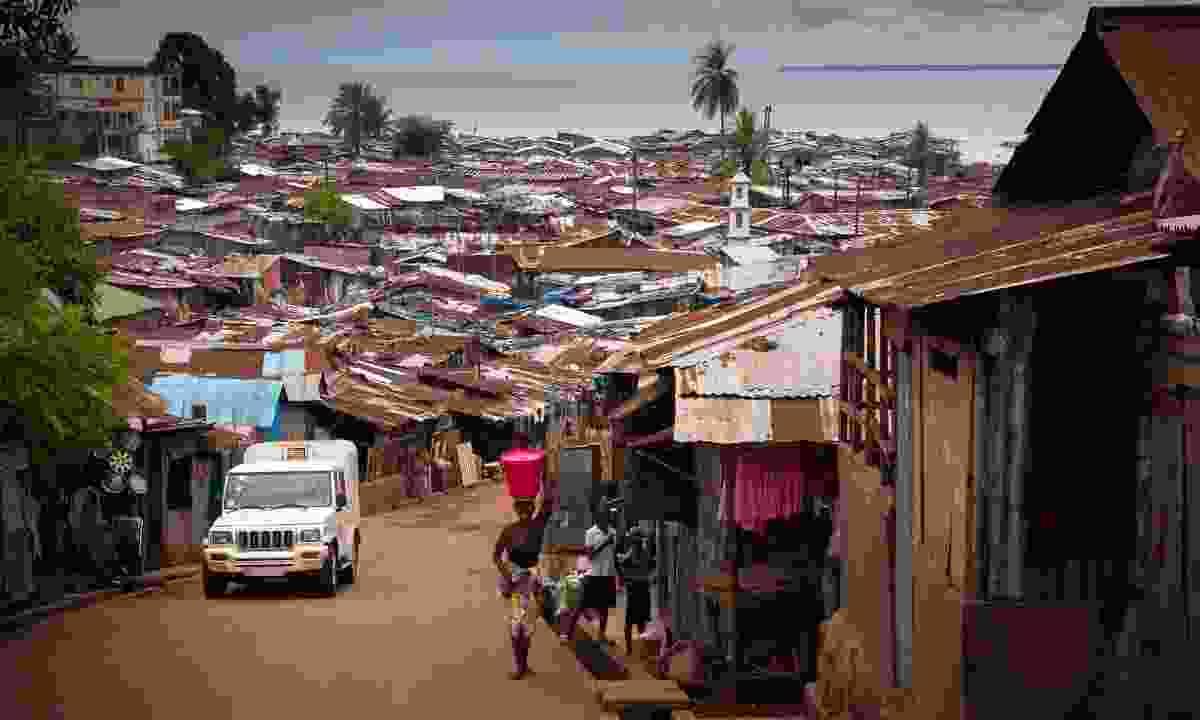 A hillside neighbourhood in Freetown (Shutterstock)