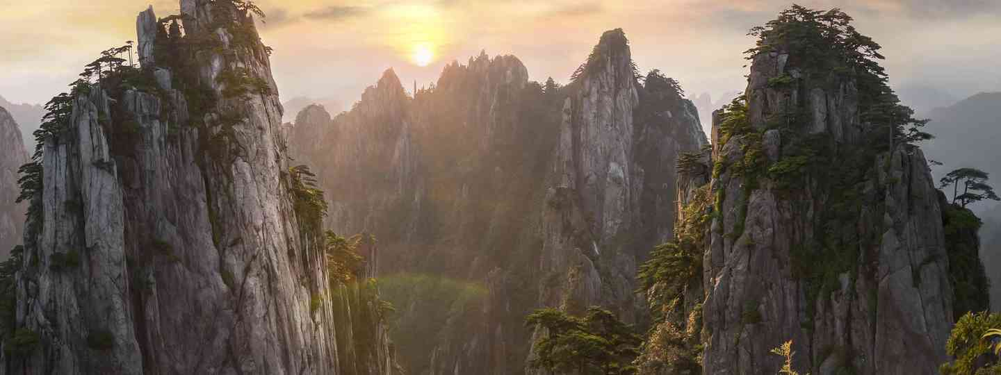 Winner: The sunrise hours highlight the many peaks of Yellow Mountain in China (Callie Chee)