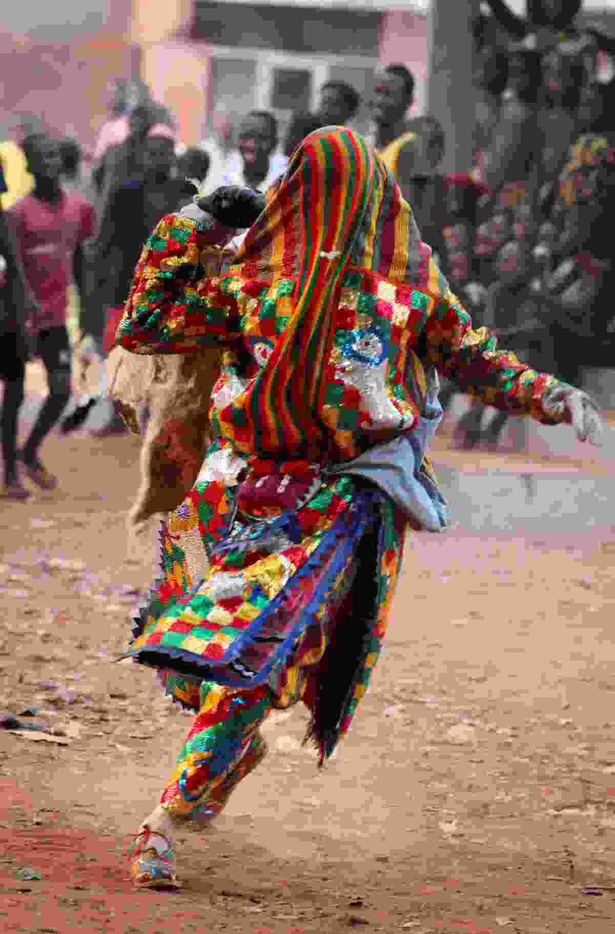 A dancer at Benin Voodoo Festival (Shutterstock)