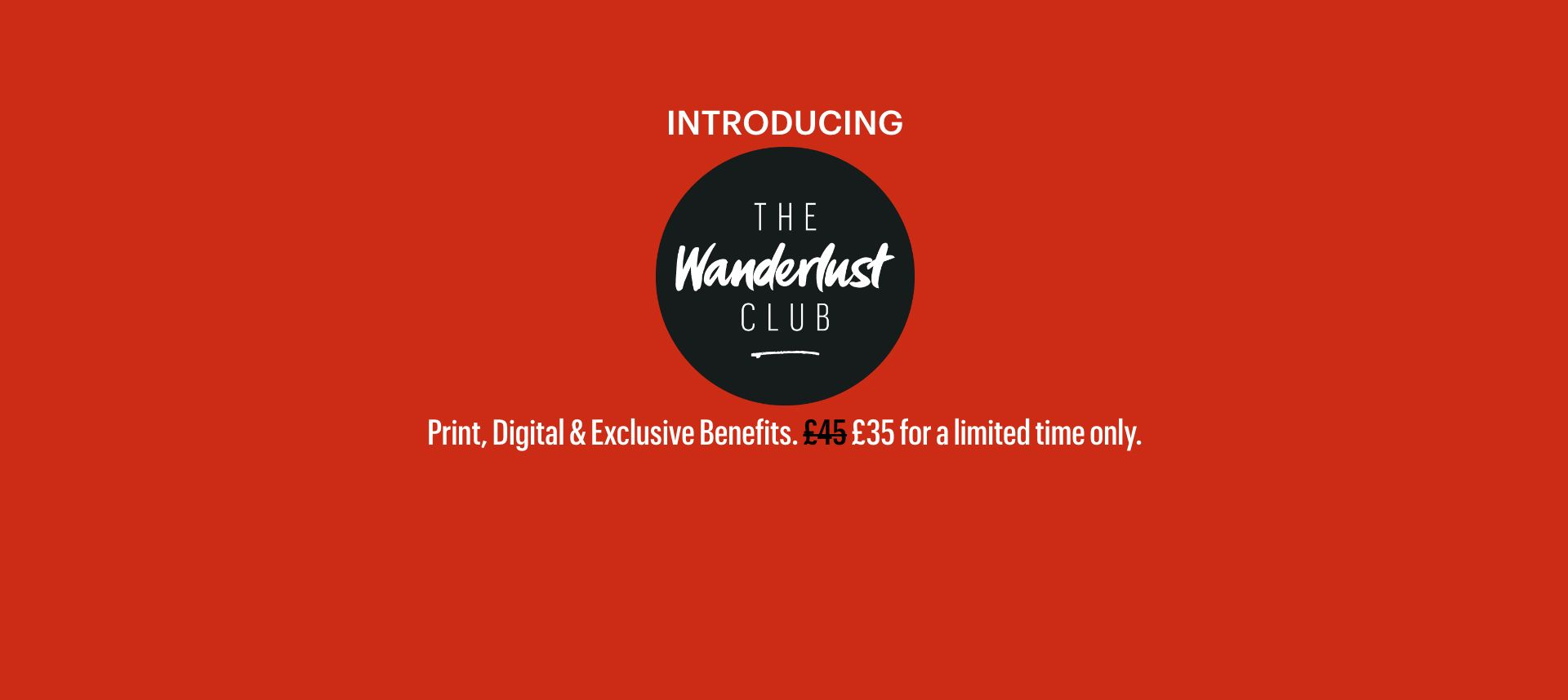 Introducing the Wanderlust Club