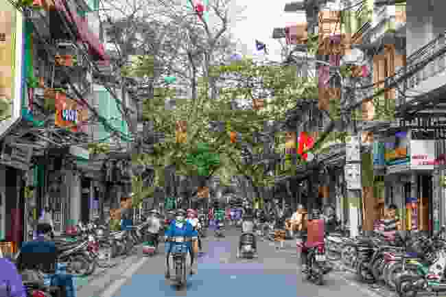 Watch out for motorists when in Hanoi (Shutterstock)