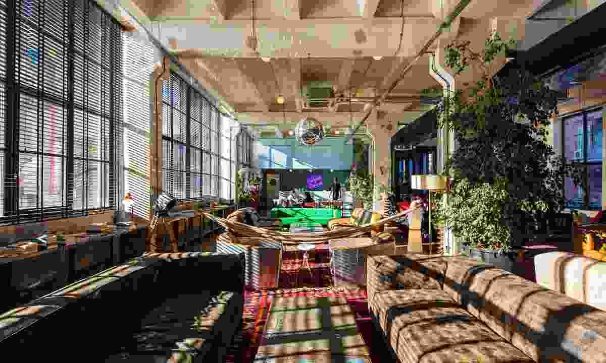 Fabrika Hostel's lobby