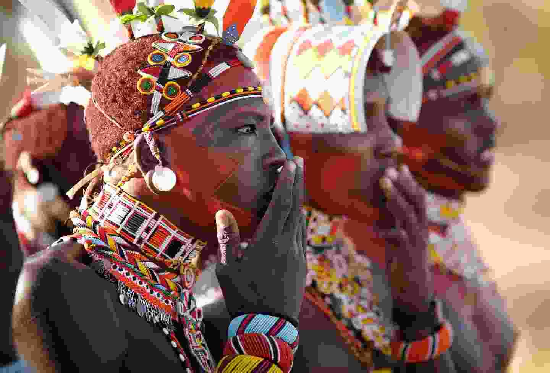 A Samburu warrior in Kenya (Shutterstock)