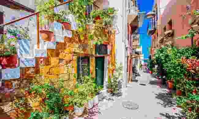 One of Chania's many charming, narrow streets