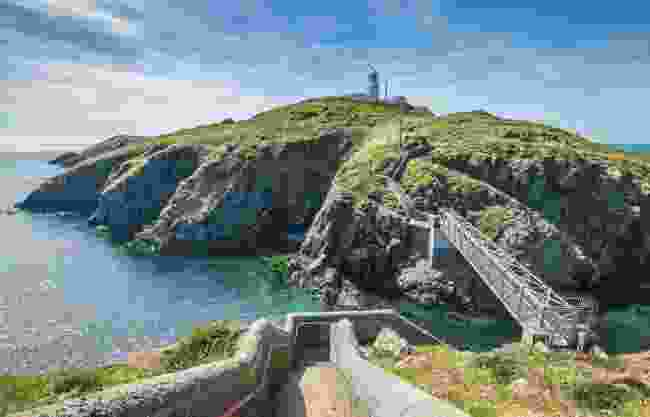 The walkway to Strumble Head Lighthouse, Pembrokeshire, Wales (Shutterstock)