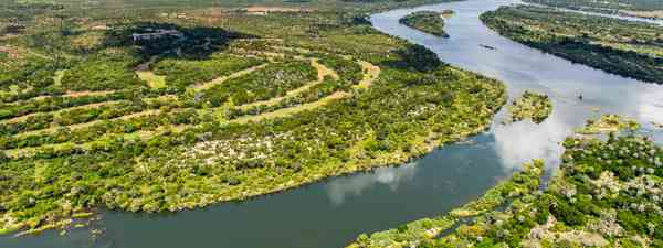 An aerial view of the Zambezi (Shutterstock)