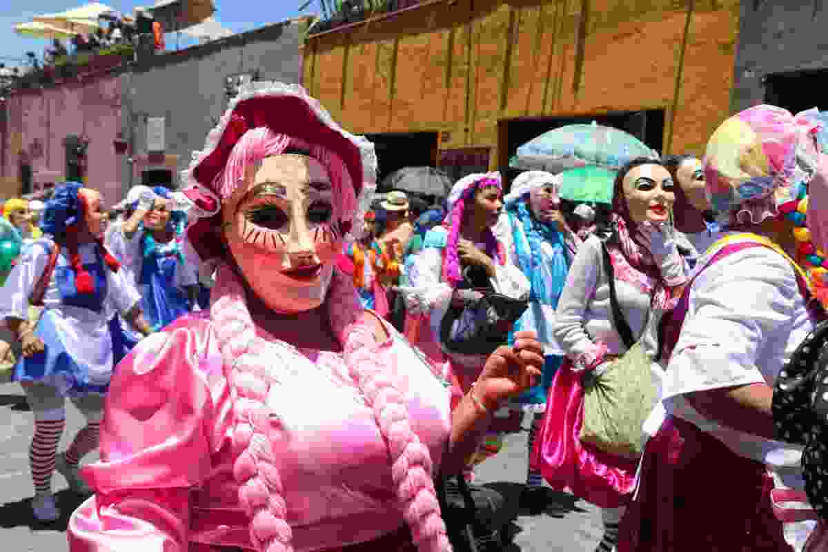 Costumes galore during Dia de los Locos, San Miguel de Allende, Mexico (Graeme Green)