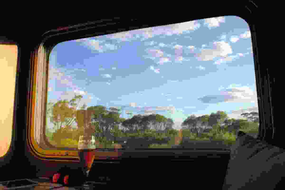 Window view on the Indian Pacific train (Ben Lerwill)