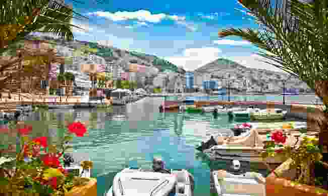 A coastal port in Albania (Shutterstock)