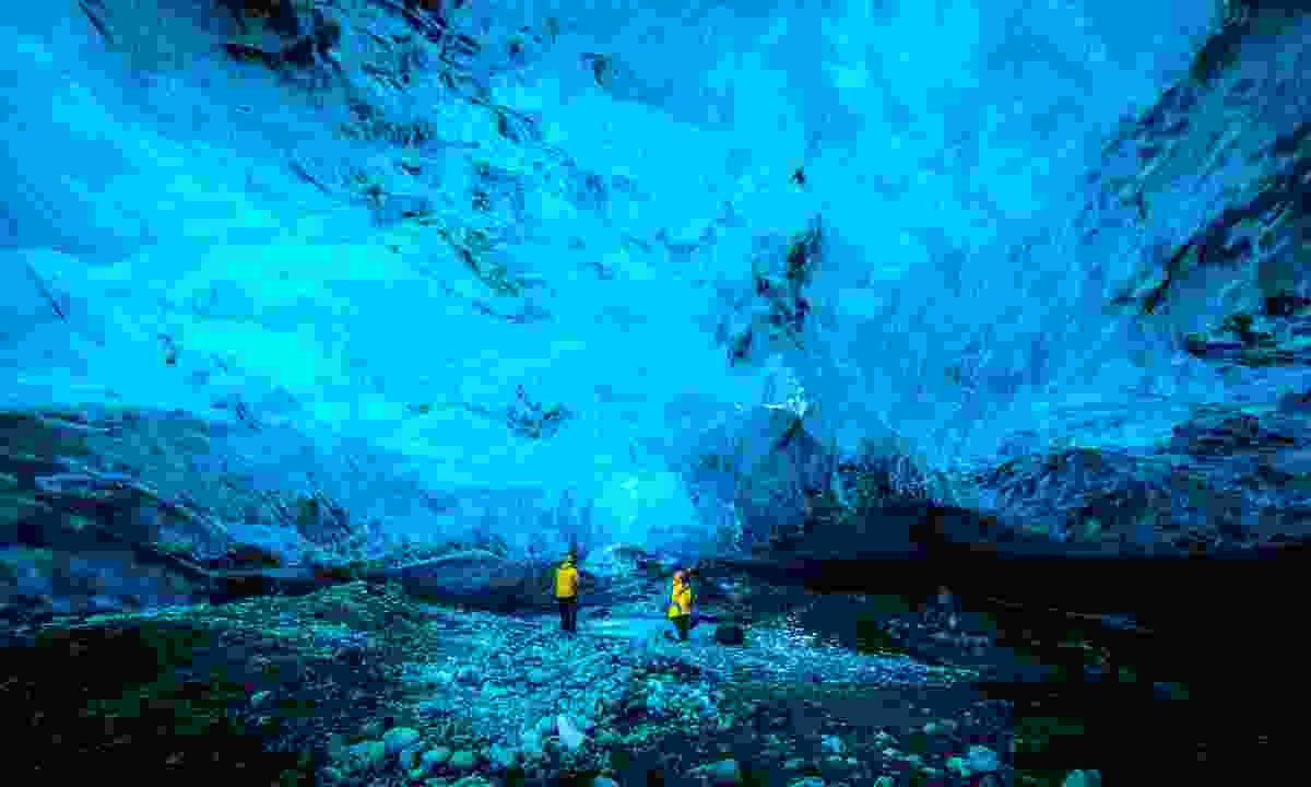 Blue crystal ice cave in Iceland (Shutterstock)