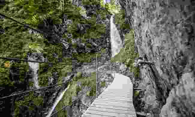Walk by the Eiferbacher Waterfall (Sportalpen via St Johann in Tirol)