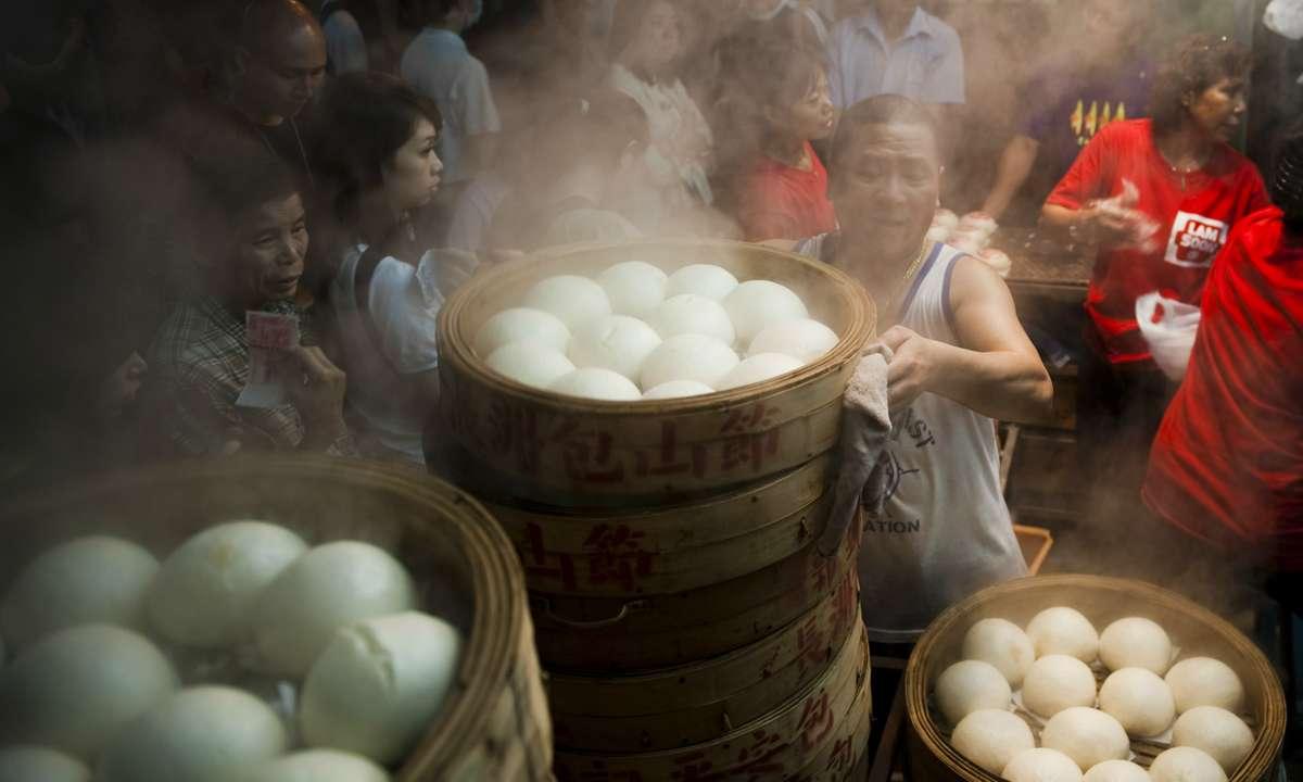 Buns being prepared for the Cheung Chau Bun Festival (Hong Kong Tourism Board)