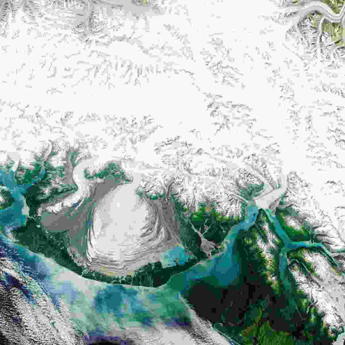 Malaspina Glacier, Alaska, USA (NASA Goddard Space Flight Centre and U.S. Geological Survey)