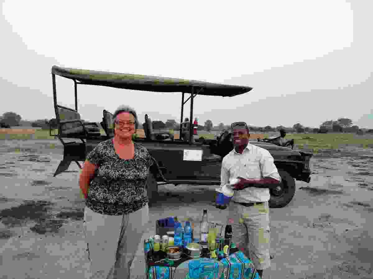 Helen enjoying the quiet of safari in Malawi