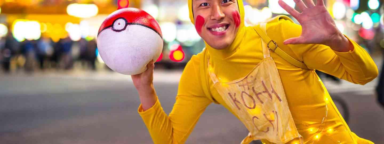 Man dressed up as Pikachu in Tokyo (Dreamstime)