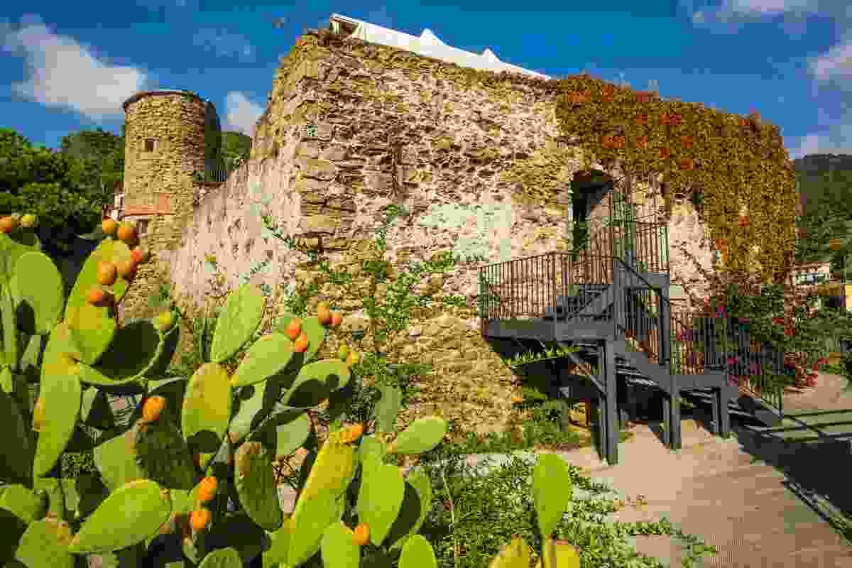 Riomaggiore Castle, a UNESCO World Heritage Site, in Cinque Terre, Italy