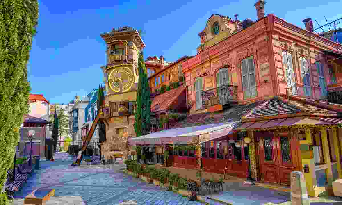 The Old Town of Tbilisi under a blue sky (Shutterstock)