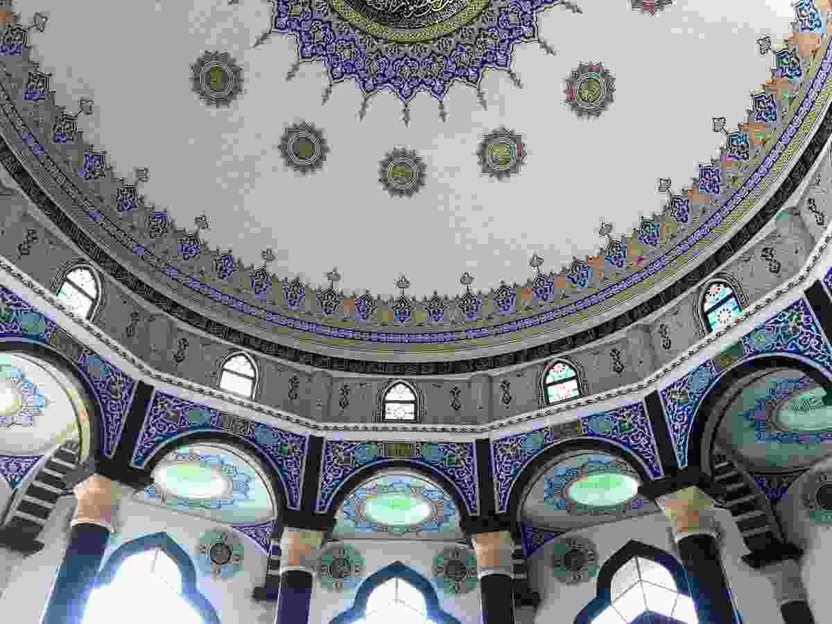 Inside the Bektashi Mosque, Tirana, Albania (Sam Baker)