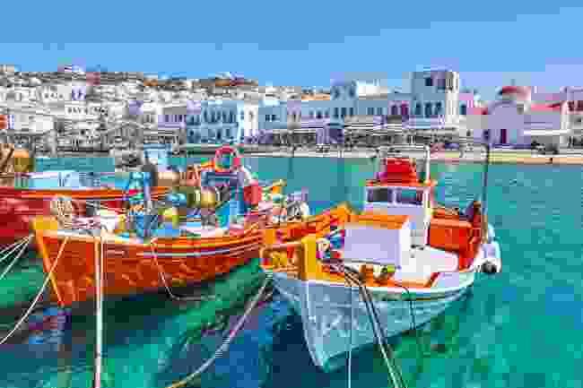 Fishing boats on Mykonos island, Greece (Shutterstock)