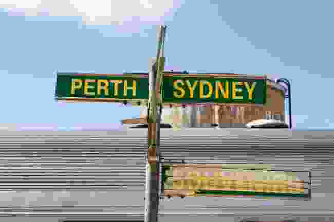 Signs to Perth and Sydney (Ben Lerwill)