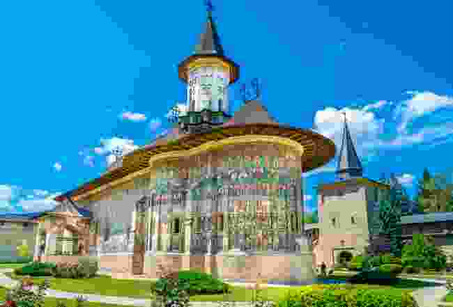 A painted monastery in Bucovina, Romania (Shutterstock)
