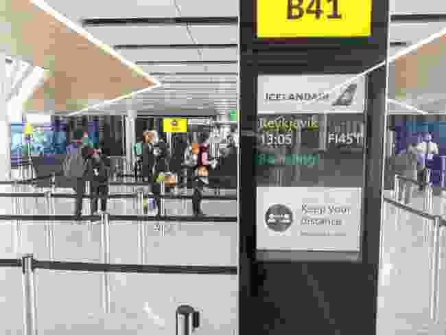 A quiet check-in queue (Mark Stratton)