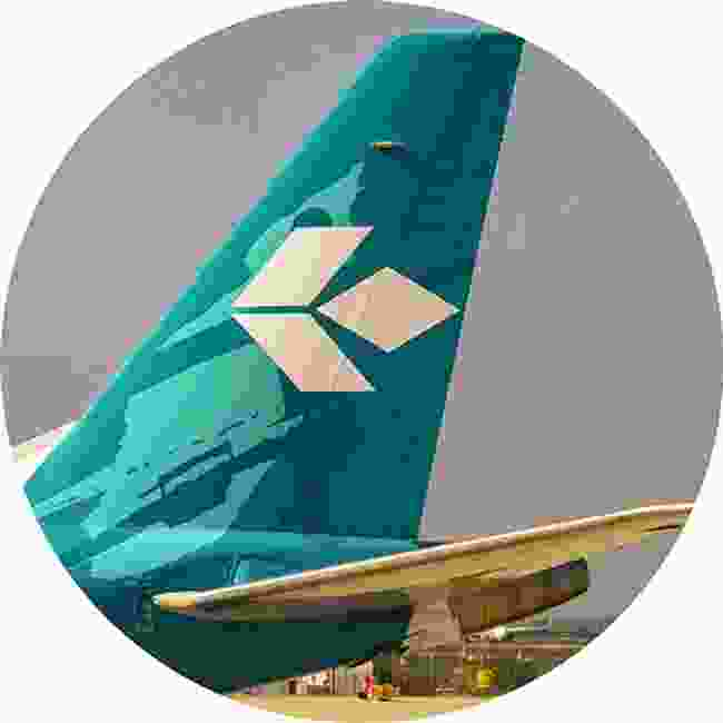 Air Dolomiti. Squint and you'll see the famous peaks (Shutterstock)