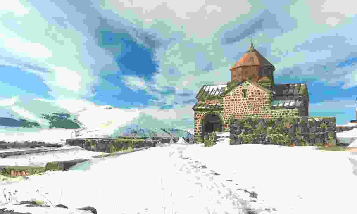 Sevanavank Monastery in winter (Dreamstime)