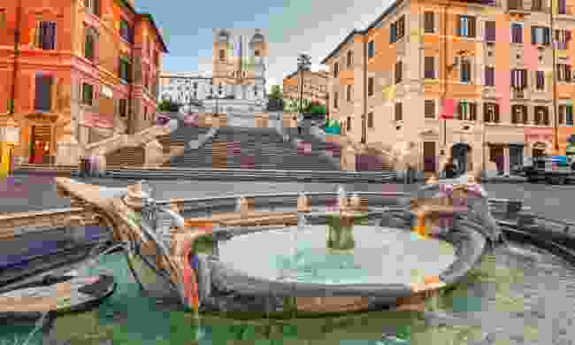 Early morning at the Spanish Steps (Dreamstime)