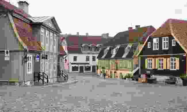 A typical street in Kuldīga (Peter Moore)