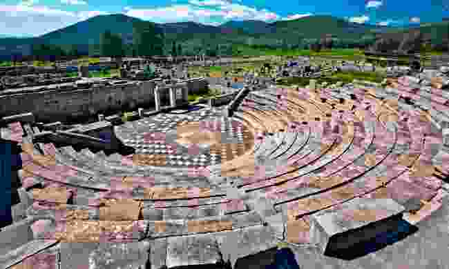 Ruins of the theatre in Messini (Shutterstock)