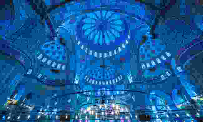 Interior of the Sultanahmet Mosque (Blue Mosque) in Istanbul (Shutterstock)