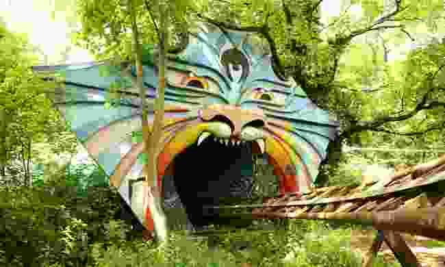 An old roller coaster in the abandoned Spreepark in East Berlin, Germany (Shutterstock)