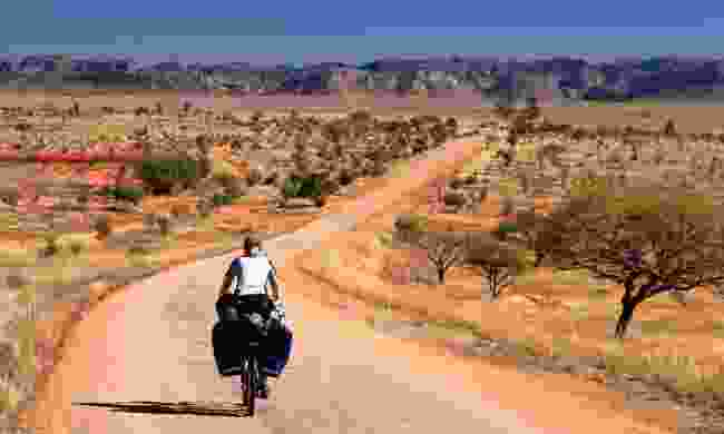 Cycling in Isalo National Park, Madagascar (Dreamstime)