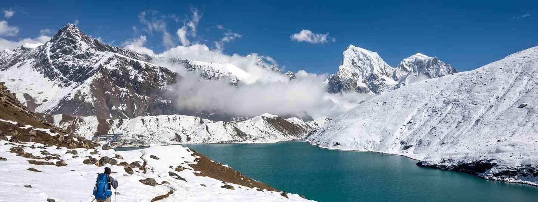 A man treks to Gokyo Lake, Nepal (Dreamstime)